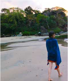 Meditative Walk on the Beach